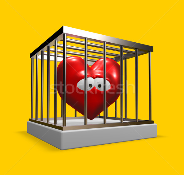 heart in cage Stock photo © drizzd