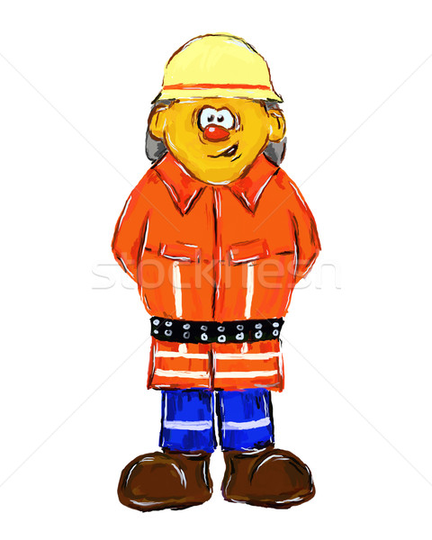 firefighter Stock photo © drizzd