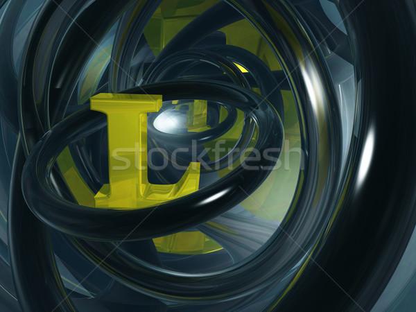 Letter l futuristische ruimte 3d illustration brief goud Stockfoto © drizzd