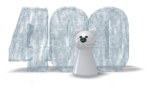 frozen number four hundred and polar bear - 3d rendering Stock photo © drizzd