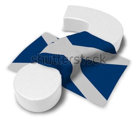 Parágrafo símbolo bandeira 3D Foto stock © drizzd