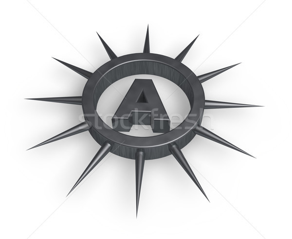 spiky letter a Stock photo © drizzd
