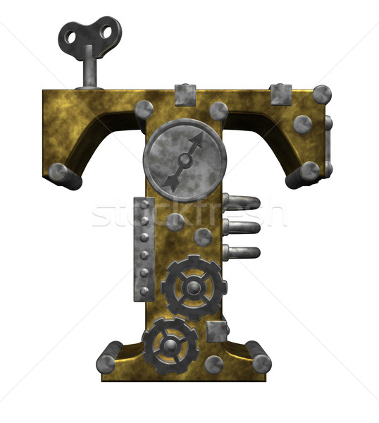 steampunk letter t Stock photo © drizzd