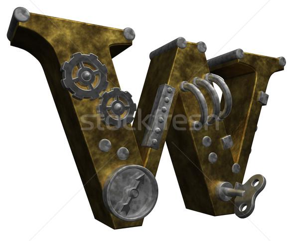 steampunk letter w Stock photo © drizzd