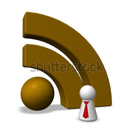 Rss símbolo branco ilustração 3d computador internet Foto stock © drizzd