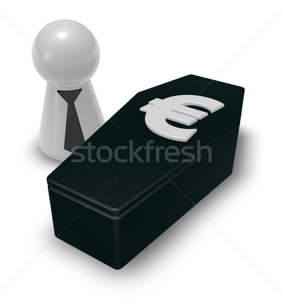 euro casket Stock photo © drizzd
