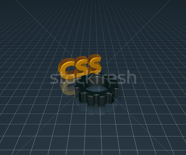 css and cogwheel Stock photo © drizzd