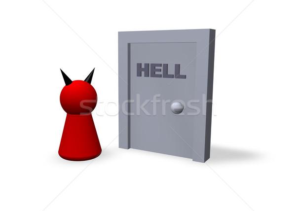 ворот ад играть Рисунок сатана двери Сток-фото © drizzd