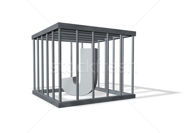 big J in a cage Stock photo © drizzd