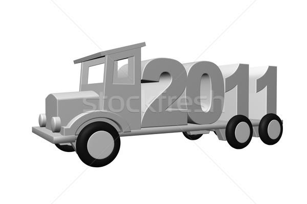 2011 année vieux camion 3d illustration route Photo stock © drizzd