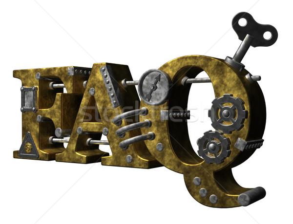 Faq metal lettere bianco illustrazione 3d chiave Foto d'archivio © drizzd