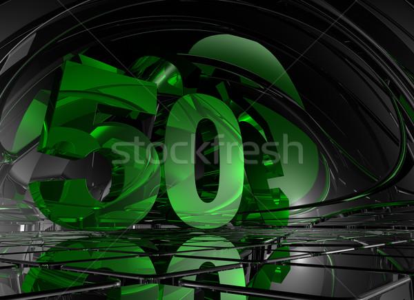 Número cincuenta resumen futurista espacio 3d Foto stock © drizzd