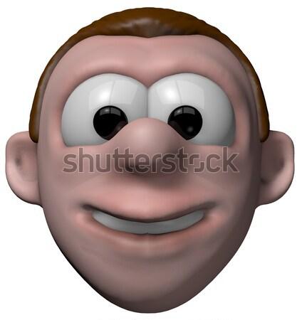Sent gözler karikatür adam simge Stok fotoğraf © drizzd