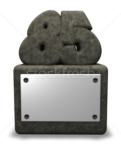 каменные числа восемьдесят пять гнездо 3d иллюстрации Сток-фото © drizzd