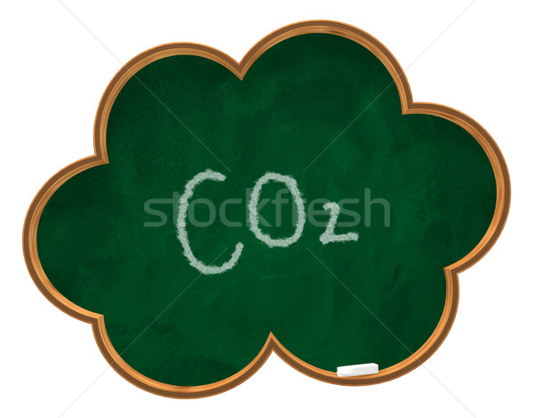 co2 on chalkboard Stock photo © drizzd
