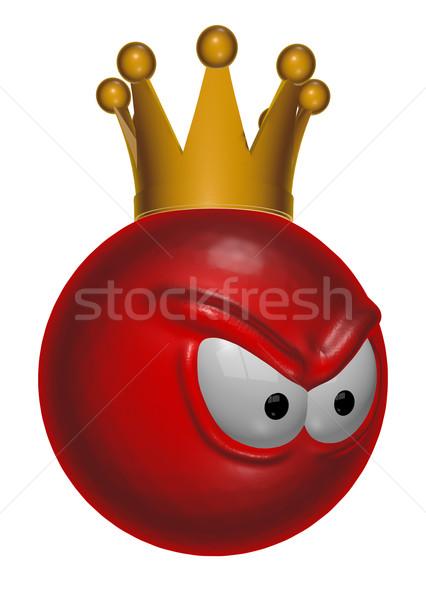 悪 赤 王 スマイリー 3次元の図 怒っ ストックフォト © drizzd