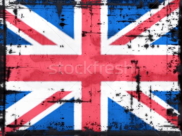 Brit zászló grunge Európa vidék antik föld Stock fotó © drizzd