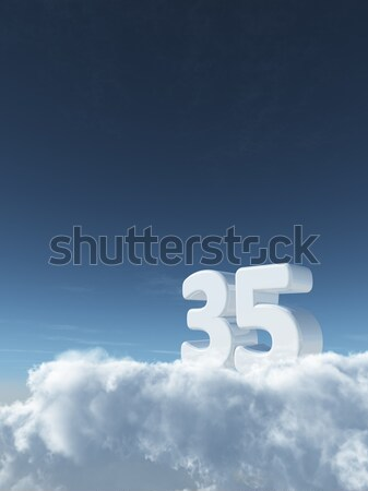 cloudy letter T Stock photo © drizzd