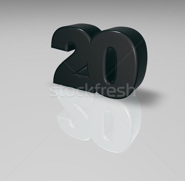 Número vinte branco ilustração 3d aniversário ilustração Foto stock © drizzd
