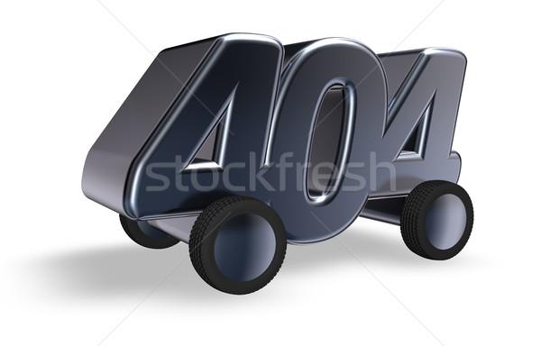 Errore di 404 numero ruote illustrazione 3d internet Foto d'archivio © drizzd