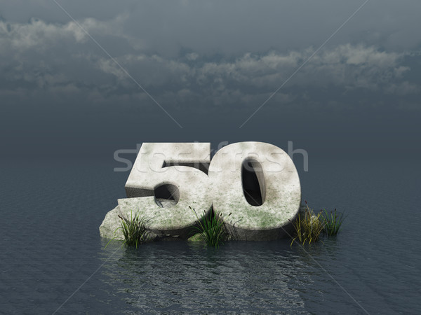 Cinquante nombre océan 3d illustration nature paysage Photo stock © drizzd