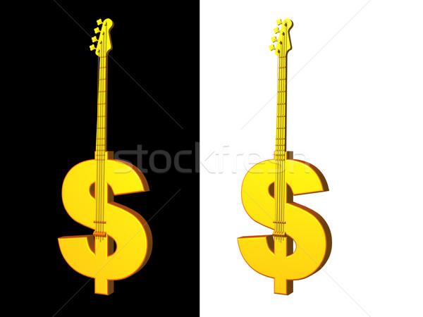Zene üzlet arany dollár basszus fekete Stock fotó © drizzd