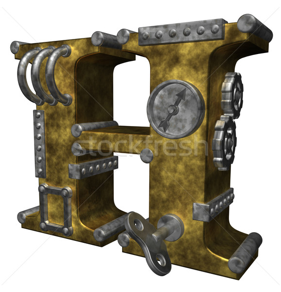 steampunk letter h Stock photo © drizzd