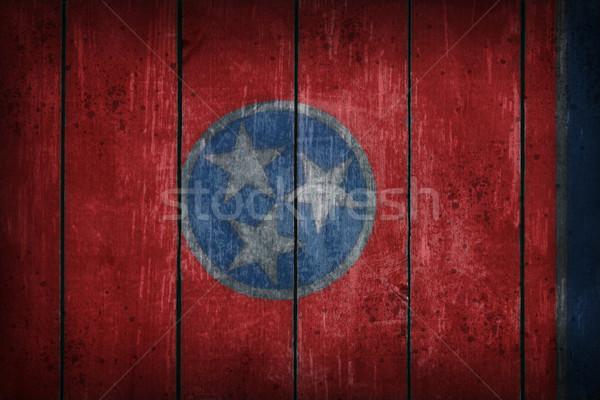 Tennessee banderą starych rana ściany Zdjęcia stock © drizzd