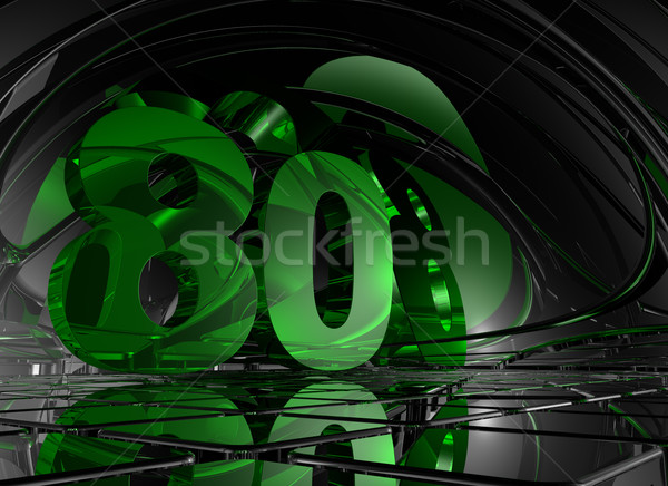 Aantal tachtig abstract futuristische ruimte 3d illustration Stockfoto © drizzd
