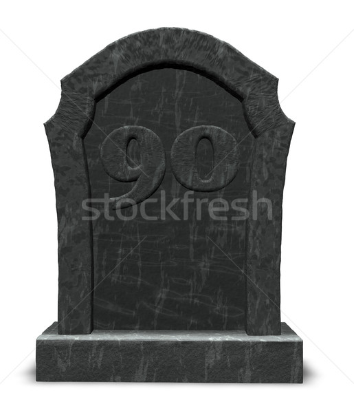 number ninety on gravestone Stock photo © drizzd