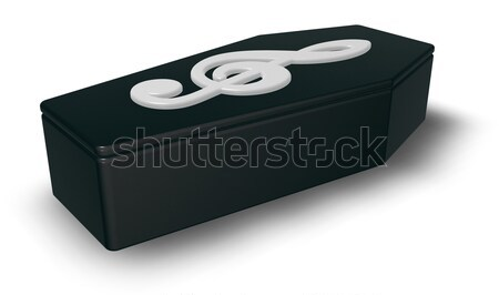 black casket with clef - 3d rendering Stock photo © drizzd
