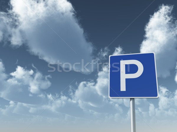 roadsign parking Stock photo © drizzd