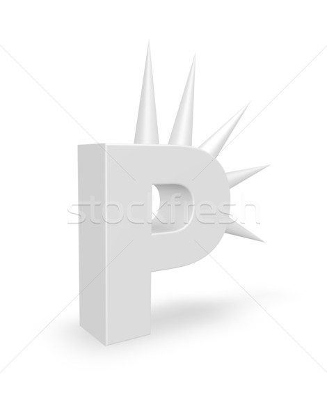 letter p with prickles Stock photo © drizzd