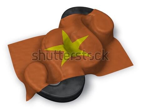 Vlag Vietnam hart symbool 3D Stockfoto © drizzd