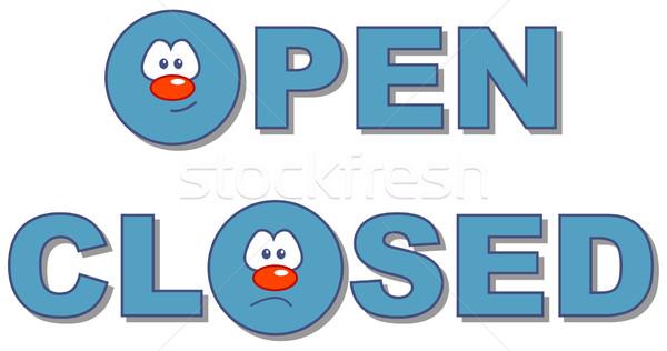 open - closed Stock photo © drizzd