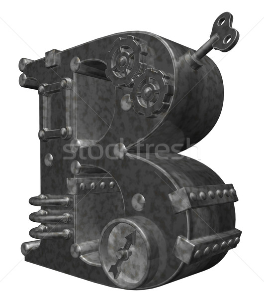 Steampunk mektup beyaz 3d illustration saat teknoloji Stok fotoğraf © drizzd