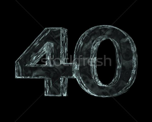 Congelés quarante nombre 40 noir 3d illustration Photo stock © drizzd