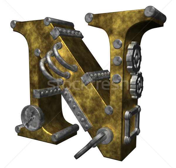 steampunk letter n Stock photo © drizzd