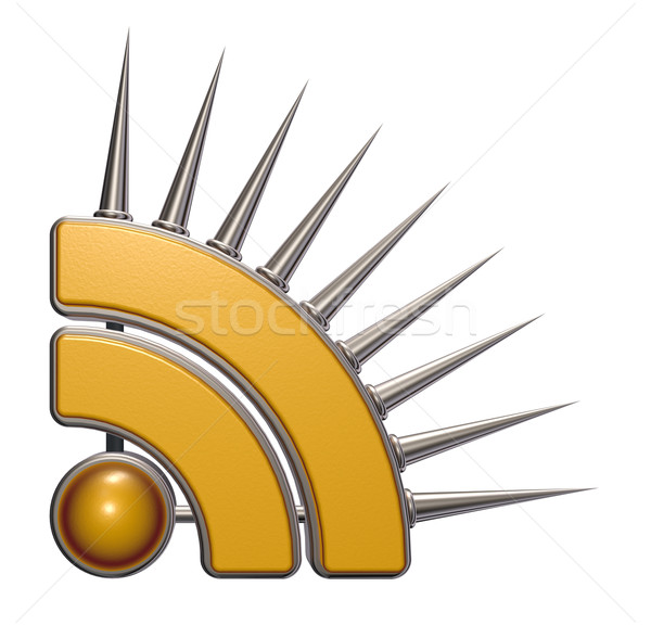 Rss symbool witte 3d illustration computer internet Stockfoto © drizzd