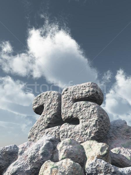 Сток-фото: числа · двадцать · пять · рок · облачный · Blue · Sky