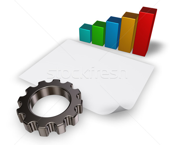 3D narzędzi koła wykres biznesowych puste papieru Zdjęcia stock © drizzd