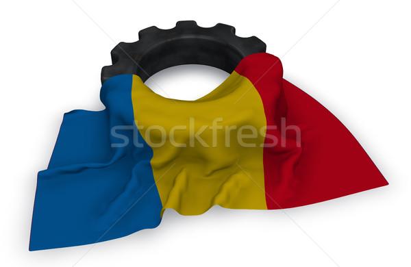 Attrezzi ruota bandiera 3D costruzione Foto d'archivio © drizzd
