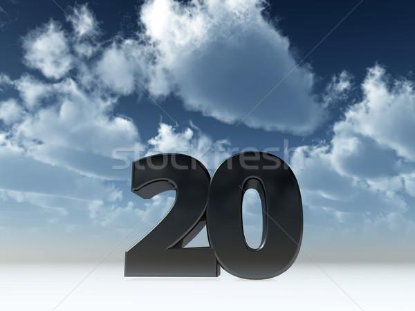 Veinte número 20 cielo azul 3d fiesta Foto stock © drizzd