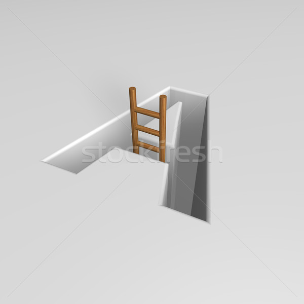 letter a and ladder Stock photo © drizzd