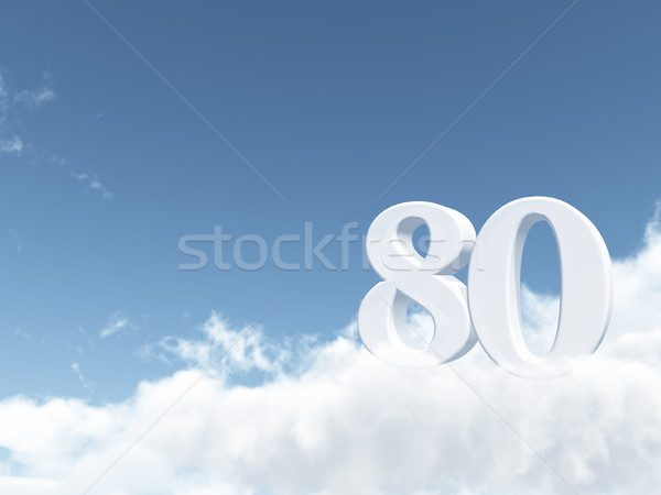 cloudy eighty Stock photo © drizzd
