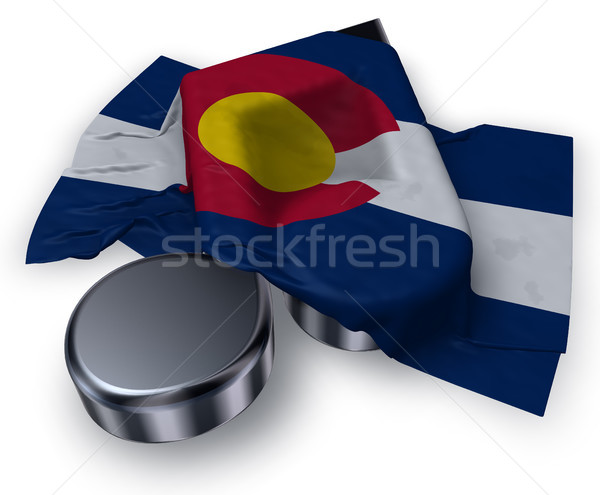 music note symbol and flag of colorado - 3d rendering Stock photo © drizzd