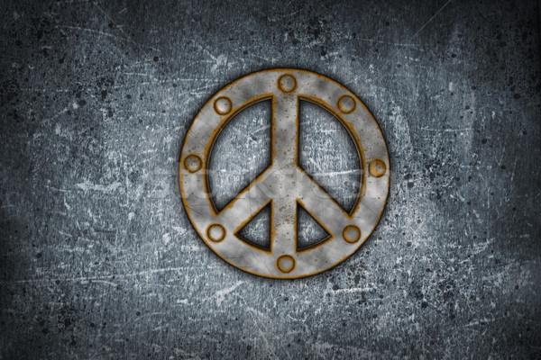 rusty peace symbol Stock photo © drizzd