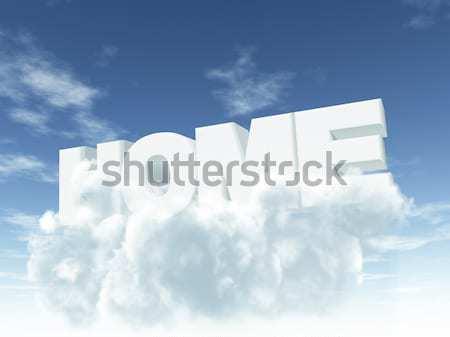 Faq cartas fofo nuvens ilustração 3d apoiar Foto stock © drizzd