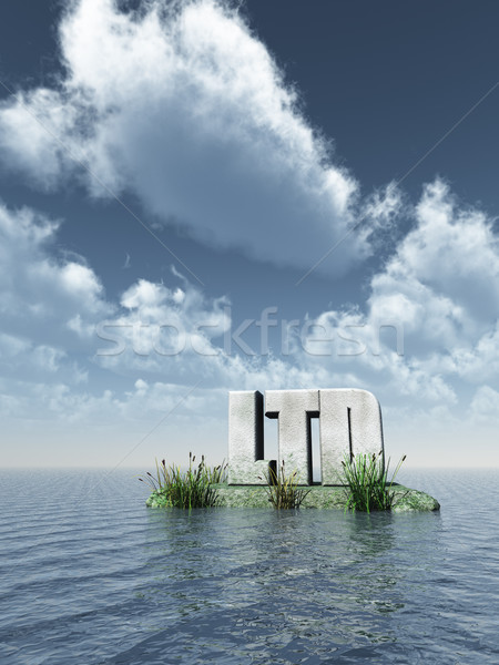 Steen oceaan 3d illustration business hemel water Stockfoto © drizzd