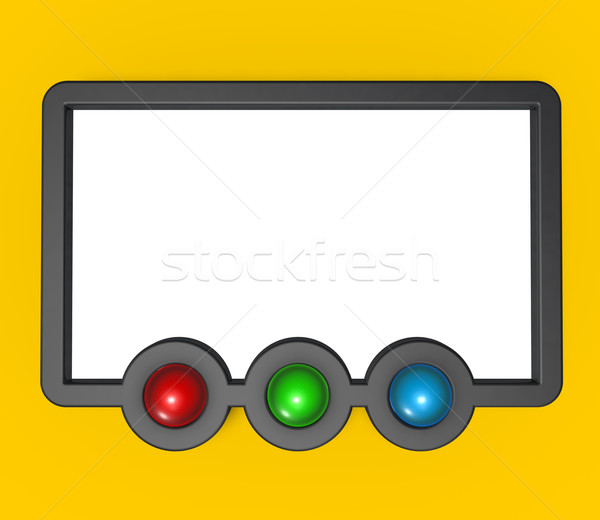 frame and rgb buttons Stock photo © drizzd